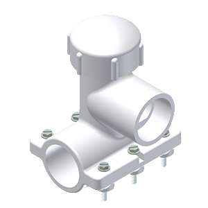 PVC SUPER FASTTAP® SADDLE PUNCH TEE FOR USE ON ALL PVC AND PE MAINS