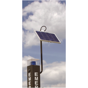Solar Tower Assembly with Phone Line