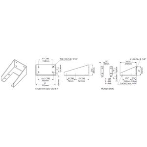 Desiccant Breather Mounting Brackets