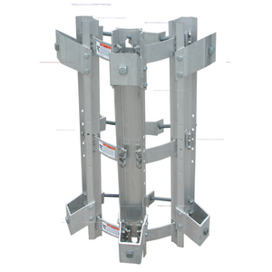 TRANSFORMER BRACKET, 3-POSITION, ALUMINUM BANDED STYLE w/NEMA A, B and C LUG SPACING for 9-1/2in to 19-1/2in DIA. POLES