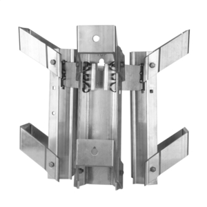 TRANSFORMER BRACKET, 3-POSITION, ALUMINUM BANDED STYLE, NEMA A LUG SPACING for 7-3/4in to 12-1/4in DIA. POLES
