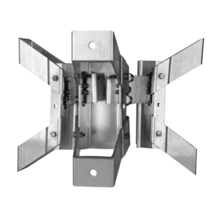 TRANSFORMER BRACKET, 3-POSITION, ALUMINUM BANDED STYLE with NEMA A LUG SPACING for 7-3/4in to 12-1/4in DIA. POLES