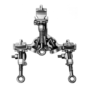 "Ground Clamp Cluster, C-Type, Type I-Class A-Grade 3, .998"" Jaw Opening"