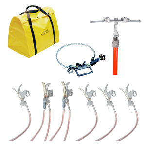 Equipotential Grounding Set - 6 Push-On Clamps for WYE Systems