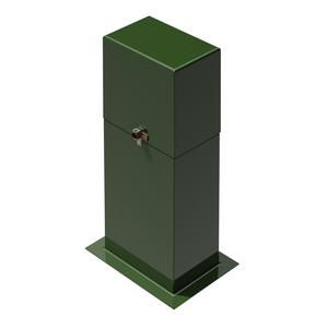 AMI Secondary Pedestal, High Back, Smooth Surface, Fiberglass