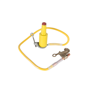 Grounded Parking Bushing Set, U.R.D. 1/0 Yellow Cable, 15kV, 4'