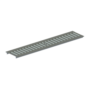 Grate, Slotted, Class A, Residential, Galvanized Steel