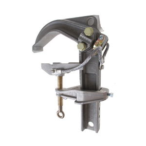 "Bus Bar Ground Clamp, Type I-Class A-Grade 5 or 6 (twin-ground cables), 6.625"" Jaw Opening"