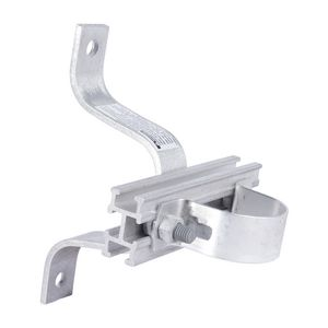 CONDUIT STANDOFF BRACKET, 4in POLE OFFSET, with 10in T-SLOT BAR