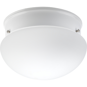 One-light CFL close-to-ceiling featuring an etched glass bowl