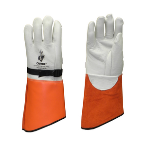 """CHANCE® Glove Protector 16"""" cowhide Nylon Strapp Size 10-10H"""