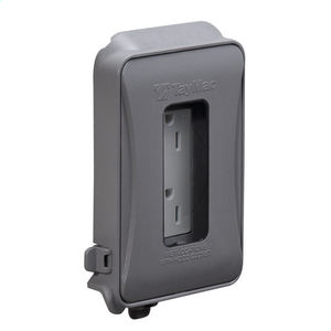 1-Gang In-Use Cover, Expandable, WR/TR Duplex Combo, Gray