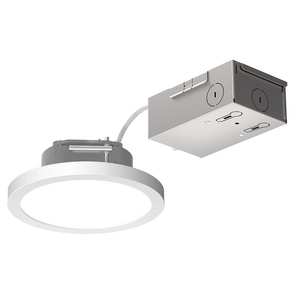 LITEBOX® Edge-Lit Round Fixed CCT Downlight w/Remote J-Box