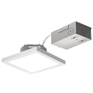 LITEBOX® Edge-Lit Square Fixed CCT Downlight w/Remote J-Box