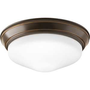 "One-Light 11"" Etched Glass LED Flush Mount"