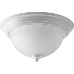 "One-Light 11-3/8"" Etched Ribbed Glass LED Flush Mount"