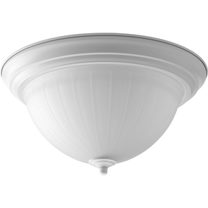 "One-Light 13-1/4"" Etched Ribbed Glass LED Flush Mount"