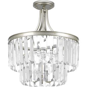 "Glimmer Collection Three-Light 19"" Semi-Flush Convertible"