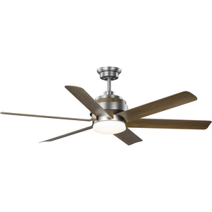 Kaysville Collection 6-Blade Chestnut 56-Inch DC Motor LED Urban Industrial Ceiling Fan