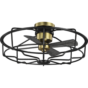 "Loring Collection 33"" Four-Blade Black Ceiling Fan"
