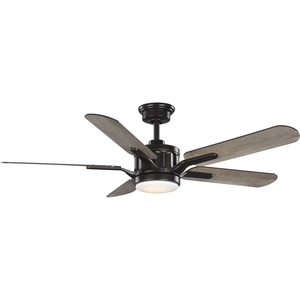 Claret Collection 5-Blade Reversible Antique Wood/Chestnut 56-Inch DC Motor LED Transitional Ceiling Fan