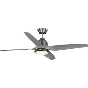 Alleron Collection 4-Blade Grey Weathered Wood 56-Inch DC Motor LED Urban Industrial Ceiling Fan