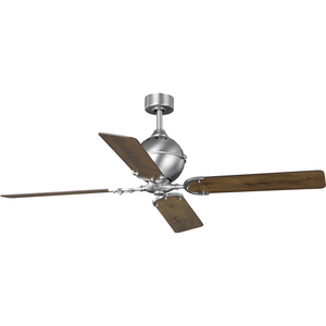 "Royer Collection 56"" Four-Blade Antique Nickel Ceiling Fan"
