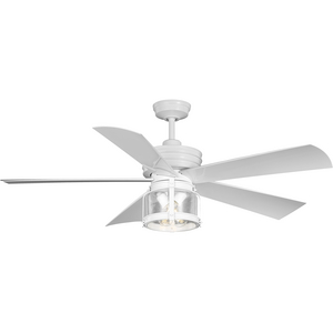 Midvale Collection 5-Blade White 56-Inch AC Motor Coastal Ceiling Fan