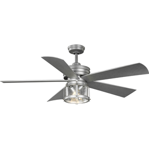 Midvale Collection 5-Blade Galvanized 56-Inch AC Motor Coastal Ceiling Fan
