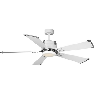 Glenfalls Collection 5-Blade Reversible White 56-Inch AC Motor LED Transitional Ceiling Fan