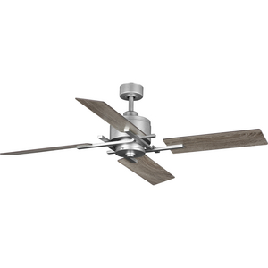 "Bedwin Collection 54"" Four-Blade Galvanized Ceiling Fan"