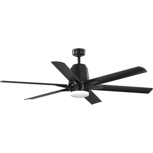 "Arlo Collection 60"" Indoor/Outdoor Six-Blade Black Ceiling Fan"
