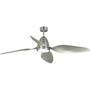 "Holland Collection 60"" Four-Blade Brushed Nickel Ceiling Fan"