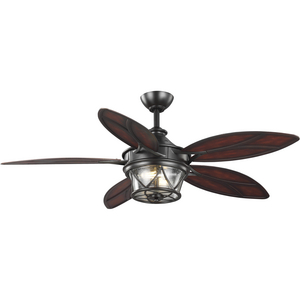 "Alfresco Collection 54"" Indoor/Outdoor Five-Blade Architectural Bronze Ceiling Fan"