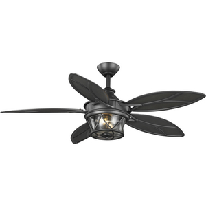"Alfresco Collection 54"" Indoor/Outdoor Five-Blade Blistered Iron Ceiling Fan"