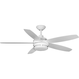"Albin Collection 54"" Indoor/Outdoor Five-Blade White Ceiling Fan"