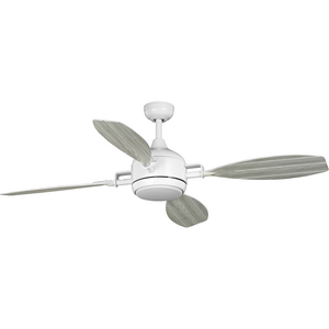 "Rudder Collection Indoor/Outdoor 56"" Four-Blade Satin White Ceiling Fan"