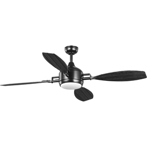 "Rudder Collection Indoor/Outdoor 56"" Four-Blade  Black Ceiling Fan"