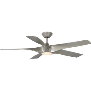 """Vernal Collection 60"""" Five-Blade Silver LED Wifi Transitional Indoor/Outdoor Smart DC Ceiling Fan"""