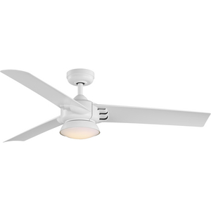 Edwidge Collection 3-Blade White 52-Inch DC Motor LED Contemporary Ceiling Fan
