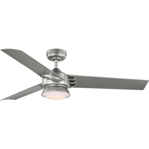 Edwidge Collection 3-Blade Painted Nickel 52-Inch DC Motor LED Contemporary Ceiling Fan