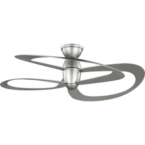 Willacy Collection 3-Blade Painted Nickel 48-Inch DC Motor Contemporary Ceiling Fan