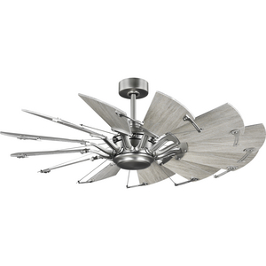 Springer Collection 52-Inch Antique Nickel 12-Blade DC Motor Windmill Ceiling Fan
