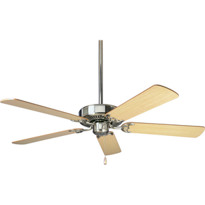 AirPro Energy Star-Rated 52-Inch Brushed Nickel 5-Blade AC Motor Traditional Ceiling Fan
