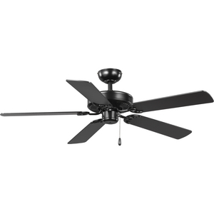 AirPro Energy Star-Rated 52-Inch Matte Black 5-Blade AC Motor Traditional Ceiling Fan