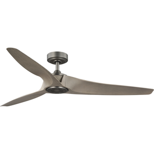 Manvel Collection 60-Inch Three-Blade DC Motor Transitional Ceiling Fan Antique Wood