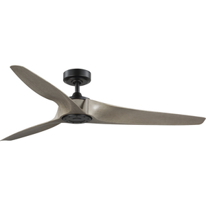 Manvel Collection 60-Inch Three-Blade DC Motor Transitional Ceiling Fan Grey Weathered Wood