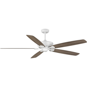 Kennedale Collection 72-Inch Five-Blade DC Motor Transitional Ceiling Fan Driftwood/Matte White