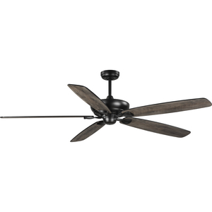 Kennedale Collection 72-Inch Five-Blade DC Motor Transitional Ceiling Fan Rustic Charcoal/Matte Black