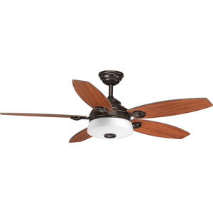 "Graceful Collection 54"" 5 Blade Fan w/ LED Light"